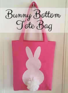 Bunny Bottom Tote Bag Tutorial Best of Clever Little Mouse Easter Fabric, Diy Tote Bag, Tote Bags, Craft Bags, Easter Crafts, Easter Gift, Fabric Crafts, Sewing Projects, Applique