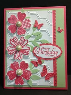 A Flower Shop Birthday Stampin' Up! Rubber Stamping Handmade Birthday Cards