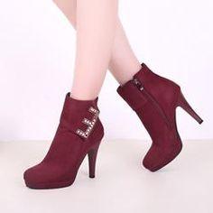 8c0b8f269  Valentines  AdoreWe  EricDress -  EricDress Ericdress Fashion Diamond  Plain Womens High Heel