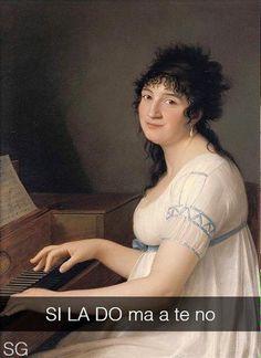 """Gaspare Landi . """" Ritratto di Anna Maria Pellegrini al pianoforte """""""