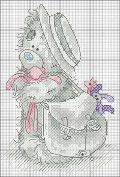 МИШКИ / Вышивка / Схемы вышивки крестом