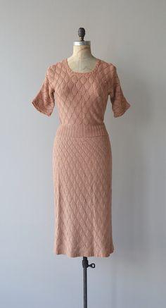 Riego knit dress 1930s knit dress vintage 30s by DearGolden