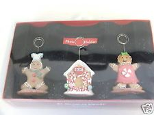SET/3 ST NICHOLAS SQUARE GINGERBREAD MAN PHOTO HOLDERS