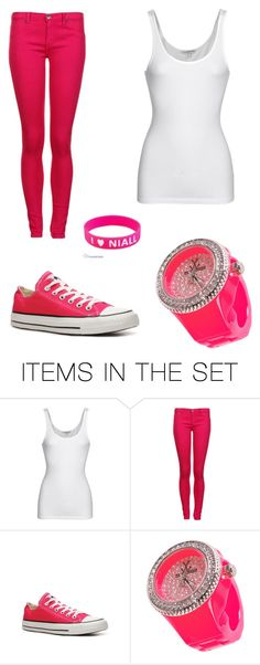 """""""Pink and white! :D"""" by kikiriki317 ❤ liked on Polyvore featuring art"""