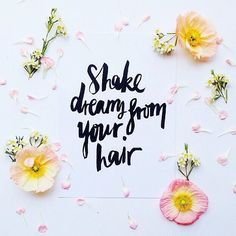 Shake dreams from your hair! A favourite print from our collaboration with @Jasmine Ann {The Gluten Free Scallywag} Ann Dowling, launched today Find her limited edition prints at www.moltenstore.com.