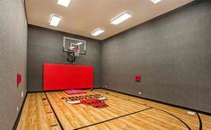 Indoor basketball courts home gym contemporary with vaulted ceiling indoor basketball court Home Basketball Court, Indoor Basketball Hoop, Basketball Room, Basketball Shooting, Sports Court, Basketball Drills, Custom Basketball, Louisville Basketball, Basketball Shoes