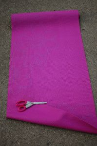 Yoga mats can be expensive but there are DIY options