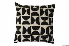 African Style Black and White Cushion 6107/6106