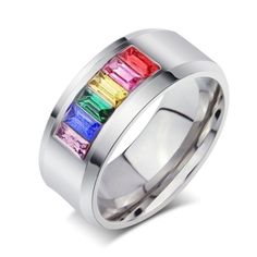 Feature: Fine or Fashion: Fashion Item Type: Rings Surface Width: 8mm Rings Type: Wedding Bands Style: Trendy Brand Name: Vnox Gender: Women Setting Type: Bezel Setting Material: Stone Occasion: Weddi