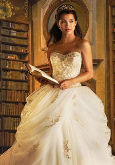 Disney Fairy Tale Weddings by Alfred Angelo 254 Belle Wedding Dress - The Knot