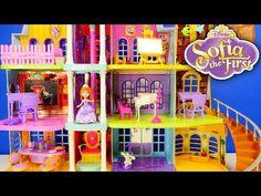 NEW Disney Princess Giant Doll House Sofia The First Magical Royal Castle Prep Academy Toys - YouTube