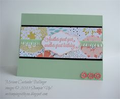 stampin' up, M stampin' with you, Miriam Castanho Bollinger, demonstrator, sneak peak sab 2014, sweet sorbet dsp, another great year stamp set, apothecary accents framelit, itty bitty punch pack, su