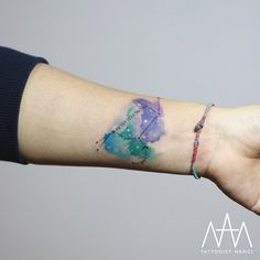 Watercolor Leo Constellation Tattoo by Tattooist Nanci