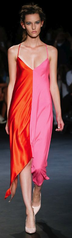 London Fashion Week Day 5 Emilio de la Morena Spring/Summer 2015 Ready to wear 16 September 2014 Orange Fashion, Pink Fashion, Colorful Fashion, Love Fashion, Fashion Show, Fashion Outfits, Fashion Design, Ferrat, Spring Summer 2015