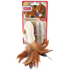 KONG® Feathered Mouse Refillable Catnip Toy - PetSmart