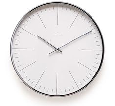Max Bill Wall Clock by Junghans Max Bill, Bauhaus, Wall Clock Copper, Simple Watches, Kitchen Clocks, Interior Desing, Swiss Design, Time Design, Industrial Design