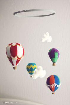 DIY: hot air balloon mobile