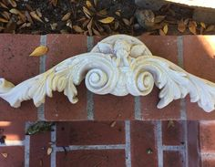 Plaster Wall Cherub, Angle Sculpture Vintage Umbrella, Vintage Garden Decor, Plaster Walls, Climbing Roses, Wall Plaques, Cherub, Vintage Items, Wall Decor, Angel