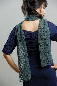 Crochet lace and beaded crochet are a perfect combination for a stunning crochet scarf. Nina's Beaded Scarf - Media - Crochet Me