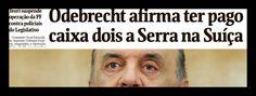 Chega ao fim a carreira política do chanceler brasileiro José Serra; manchete da Folha desta sexta-feira informa que, em seu acordo de delação premiada, a Odebrecht revelou como pagou R$ 23 milhões ao candidato tucano à presidência da República, em 2010, numa conta secreta na Suíça; executivos da empreiteira prometeram entregar os recibos dos depósitos de um valor que, corrigido pela inflação, hoje seria de R$ 34,5 milhões; Serra foi um dos principais articuladores do impeachment da…