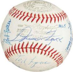 Autographed Hank Greenberg Baseball - 1965 HOF INDUCTION BY 22 w JIMMIE FOXX