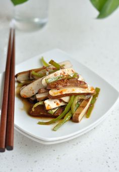 Dried Tofu with Chili Sauce