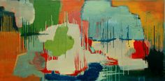 Resounding Joy - 2014  Oil on canvas  76 x 153 cm