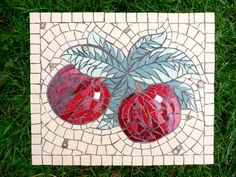 Mosaic Art ~ Apples by Ruth Ames-White www.rawmosaics.co.uk