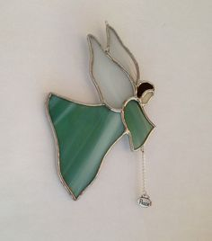 Stained Glass Flying Angel Ornament Suncatcher Peace Charm
