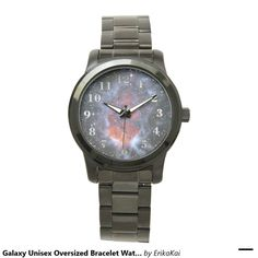 Galaxy Unisex Oversized Bracelet Watch. Color: black, gold, silver or two-ton