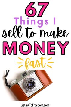 Earn Extra Money Online, Ways To Earn Money, Make Money Fast, Make Money From Home, Money Tips, Ebay Selling Tips, Selling Online, Sell Your Stuff, Things To Sell