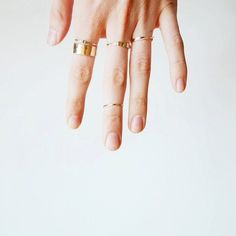 gold rings #midi #accessories #jewelry