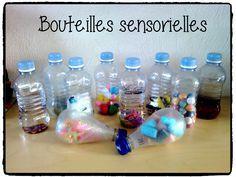 bouteilles sensorielles enfant, montessori, activités sensorielles bébé
