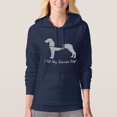 I Love My Great Dane Service Dog! Hoodie - love gifts cyo personalize diy