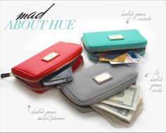 Wristlets $24 each. Coral, Mint or Gray.