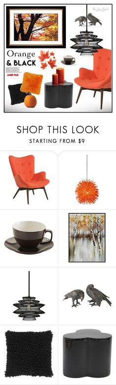 """Read D👇 Fall Decor: Orange & Black"" by theseapearl ❤ liked on Polyvore featuring interior, interiors, interior design, home, home decor, interior decorating, Pastel, Varaluz, Price & Kensington and Troy"