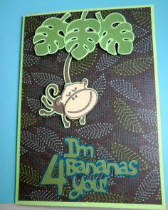 Cricut Sweethearts Cartridge Monkey Card