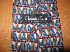 Vintage Christian Dior Monsieur 100% Silk Necktie Tie  #ChristianDior #NeckTie