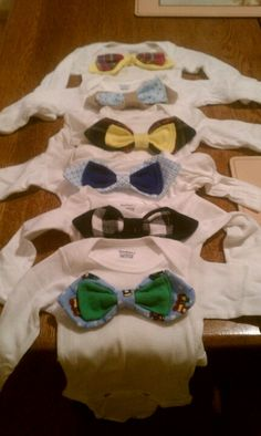 I made baby bowties for onezies.
