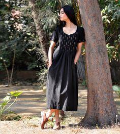 Black boho dress by KharaKapas on Etsy