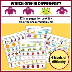Which One Is Different Worksheet Printables