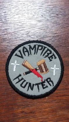 Your place to buy and sell all things handmade Embroidery Patches, Embroidery Thread, Machine Embroidery, Embroidered Patch, Vampire Hunter, Vampire Knight, Dracula, Abraham Van Helsing, Halloween Embroidery