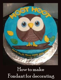 Owl Cake & Cupcakes Great decorating ideas here.