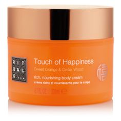 A Touch of Happiness body scrub from the Laughing Buddha Ritual line. #Rituals #happy