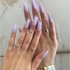Image in Uñas bonitas collection by - Coffin nails Purple Acrylic Nails, Square Acrylic Nails, Best Acrylic Nails, Summer Acrylic Nails, Summer Nails, Spring Nails, Purple Nails With Glitter, Nail Ideas For Summer, Acrylic Nail Designs For Summer