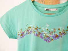 Printed T-shirt with Crayons