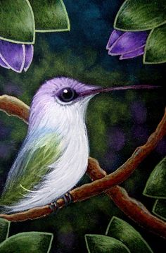 Animal Sketches, Art Sketches, Art Drawings, Bird Paintings On Canvas, Hummingbird Painting, The Art Sherpa, Rainbow Art, Pastel Art, Detailed Image