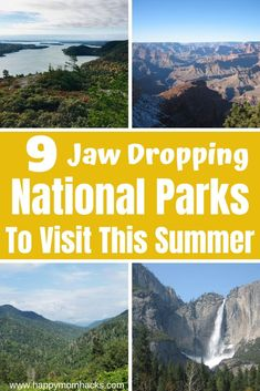 9 Best National Parks in the USA. Guide to Beautiful National Parks for Kids to Visit -Yosemite, Smoky Mountains, Grand Canyon, Shenandoah, Acadia & Everglades National Park, Sequoia National Park, Smoky Mountain National Park, Best National Parks Usa, American National Parks, All Family, Family Travel, Family Road Trips, State Parks