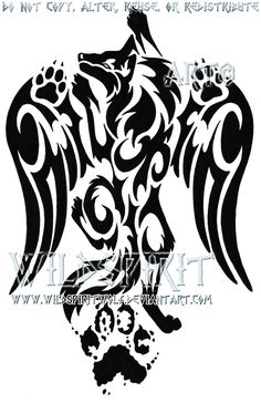 Pawprint Winged Wolf Tattoo by WildSpiritWolf.deviantart.com - This is pretty awesome actually