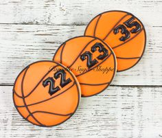 Basketball sports decorated cookies by Paradise Sugar Shoppe